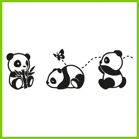 vinilo de ositos panda tus adhesivos
