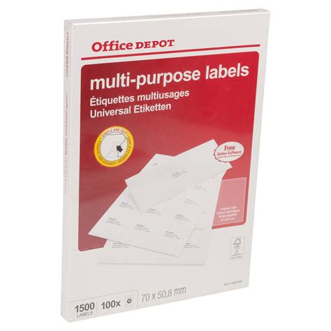 office depot color printing office depot a4 self adhesive sticky address labels inkjet