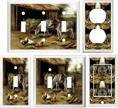 home decor outlet rooster hens farm animals home decor switch