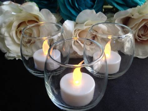 Battery Operated Lava L Centerpieces by Wedding Candles Decorations