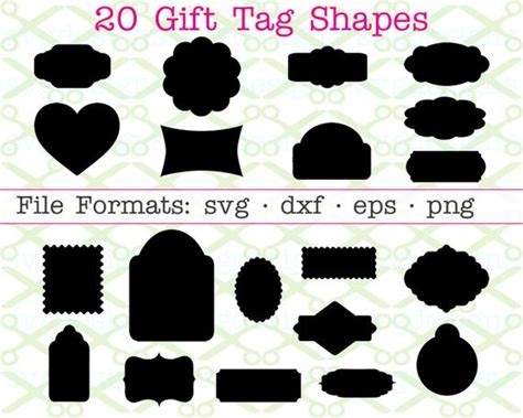 Svg stands for scalable vector graphic. Gift Tag Shapes SVG Dxf Eps & Png. Gift Tags Svg Svg ...