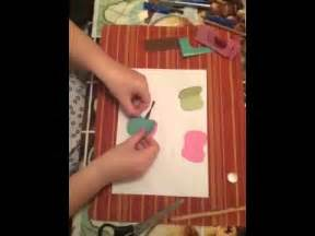 apfel aus papier basteln youtube