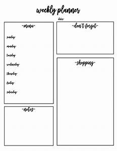 Weekly Planner Free Printable for Family Command Center