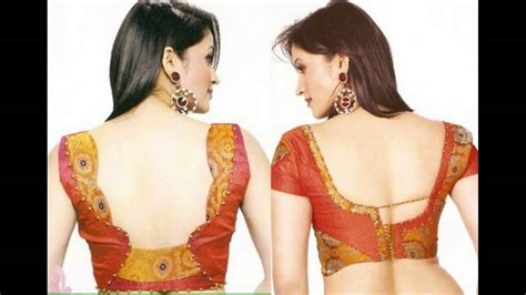 blouse  neck designs  silk sarees youtube