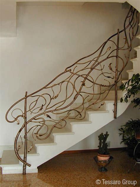 ringhiera in ferro battuto tessaro ringhiere per scale interne