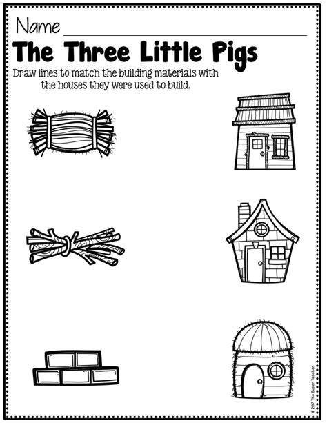 the three little pigs preschool activities story elements made practical and with familiar characters 753