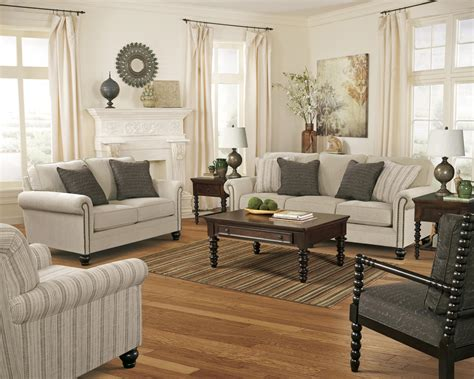 signature design by ashley milari linen transitional