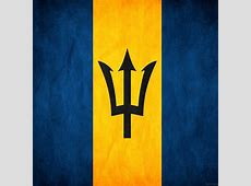 Flag Of Barbados The Symbol Of Blue Sea And Golden Sand