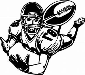Football Player Clipart Black And White Free | Clipart ...