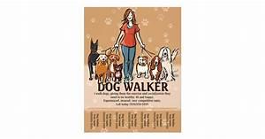 Free Dog Walking Flyer Template Dog Walker Dog Walking Advertising Template Flyer