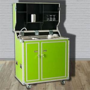 Pro Art Kitcase : kitcase pro art kofferk che gr n matt die mobile k che im flightcase mit rollen ~ Markanthonyermac.com Haus und Dekorationen