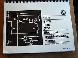 electric and cars manual 1992 bmw 8 series regenerative braking 1992 bmw 850 i owners electrical service manual e31 parts 1991 8 series e 31 ebay