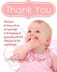 thank you messages baptism easyday With thank you letter for baptism