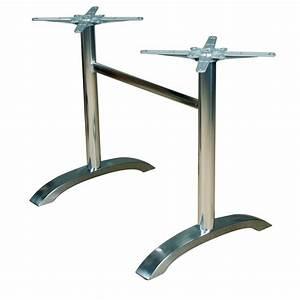 Pied De Table 90 Cm : pieds de table inox ~ Teatrodelosmanantiales.com Idées de Décoration