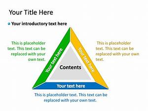 Powerpoint Slide - Diagram Triangle - Multicolor - 3 Sections