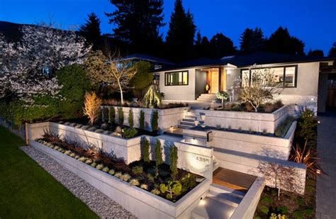 House Backyard Design by Forget The Traditional Look Modern Front Yard