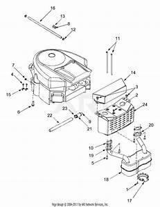 Mtd 13ar608p731  2004  Parts Diagram For Engine Accessories