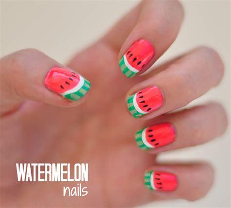 fruit nail sticker notd watermelon nails tutorial stylelab