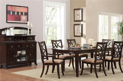 Espresso Dining Room Set by Meredith Contemporary 7 Dining Room Table And Chairs