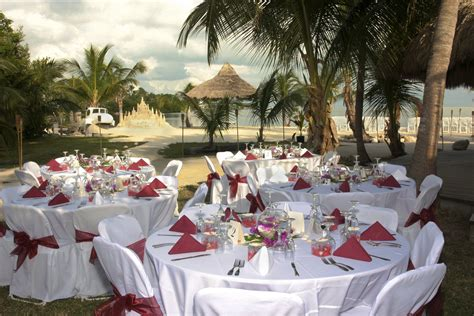 white theme beach wedding party