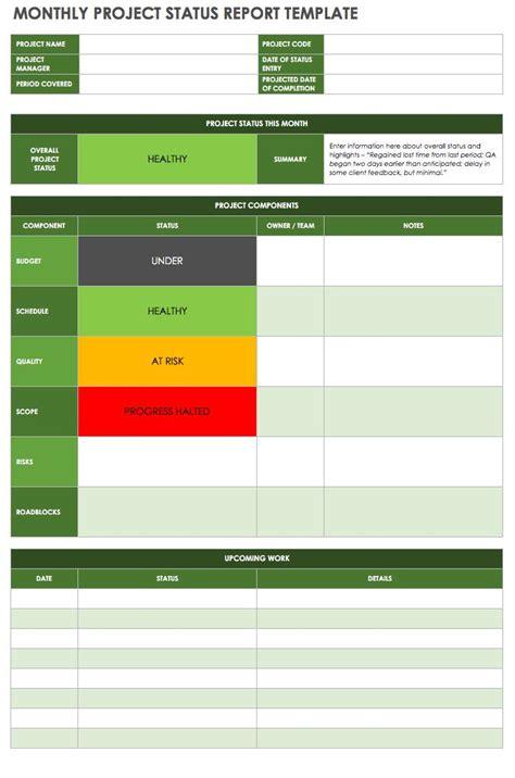 create  effective project status report smartsheet