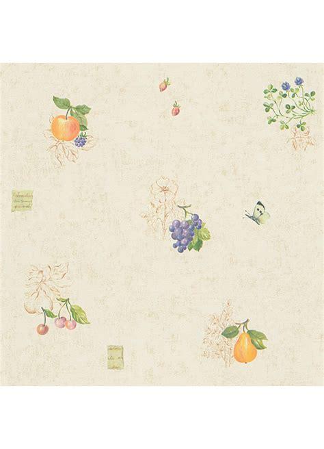 Papier Peint De Cuisine Acheter Papiers Peints De Papier Peint Cuisine Quot Fruits Et Papillons Quot Jaune