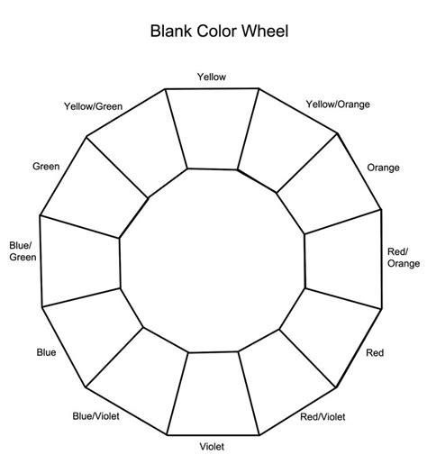 blank color wheel cosmetology teaching ideas pinterest