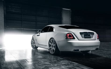 Hd Background Rolls Royce Wraith White Rear View Sports