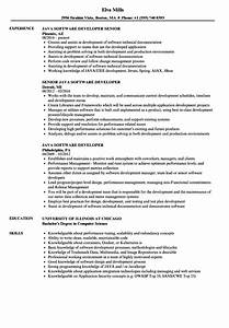 java software developer resume samples velvet jobs With sample resume for software engineer with experience in java