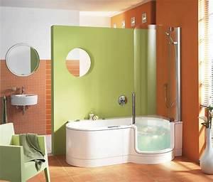 Sitzbadewanne Mit Dusche : kombination aus dusche badewanne von artweger auf ~ Frokenaadalensverden.com Haus und Dekorationen