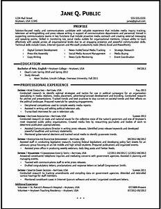 media and communications resume sample the resume clinic With communications resume template