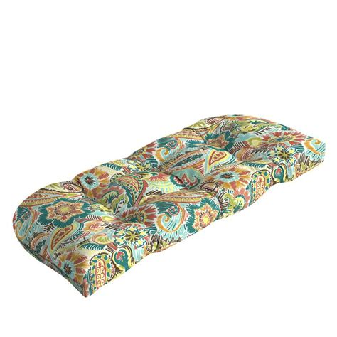 Paisley Settee by Hton Bay Jovie Tufted Outdoor Bench Cushion Je12393b