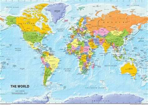 Clear world map with country names gumiabroncs Choice Image