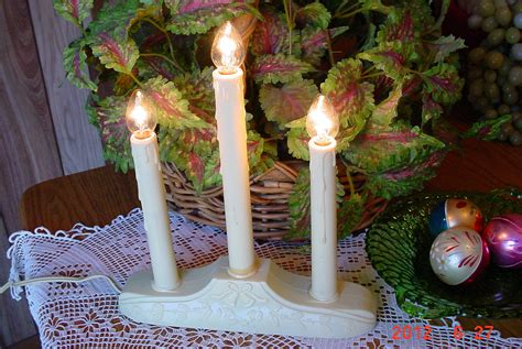 vintage christmas candelabra window lights holiday decorations