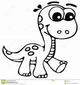 Coloring Dinosaur Cute Pages Popular sketch template