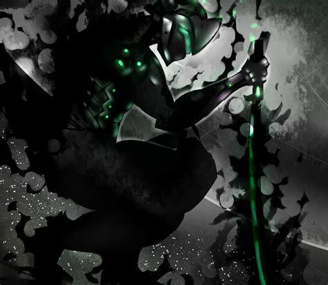 wallpaper  genji video game overwatch sword dark