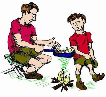 Clipart Fish Cooking Clip Campfire Cooked Cook