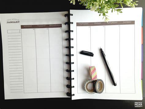 planner printable  file monday start planner