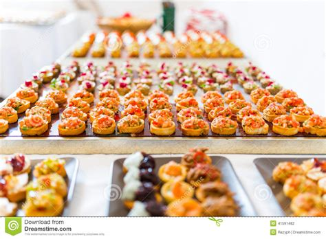 fresh canapes canapes buffet stock photo image 41591482