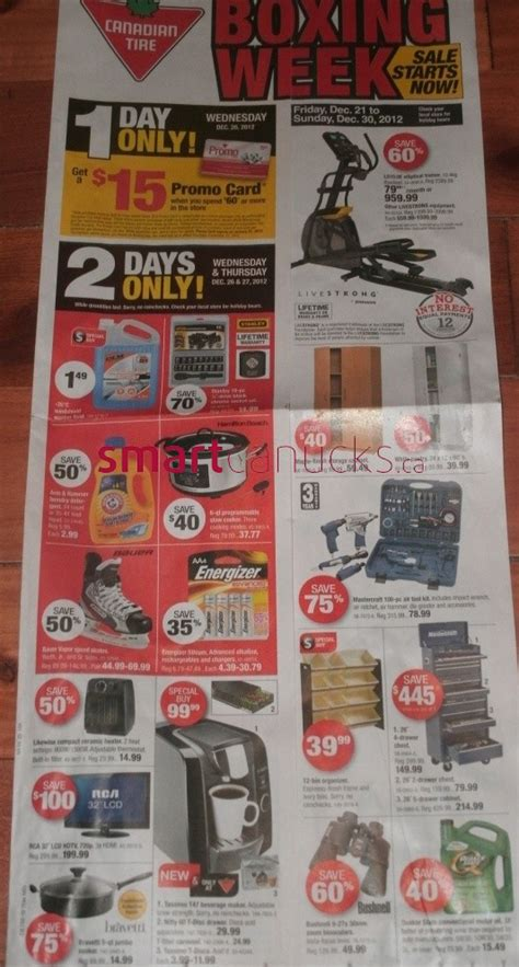 canadian tire boxing day flyer sales  boxing day canada