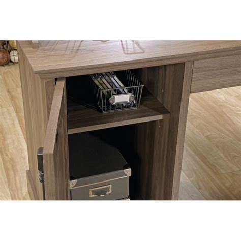 Sauder L Shaped Desk Salt Oak by L Shaped Desk In Salt Oak 418270