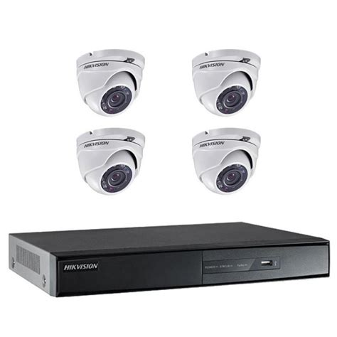 hikvision usb only hd analogue 1080p 4 channel 1 tb dvr with 4x outdoor hd analogue 3 6mm