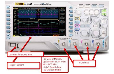 rigol dsz digital oscilloscope  mhz dso  channels