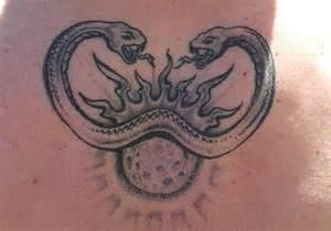 Two-Headed Snake Tattoo Design