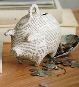 Faire Une Tirelire : tirelire cochon en papier mach 7 x 4 x 6 chez balivernes boutique papier m ch ~ Nature-et-papiers.com Idées de Décoration