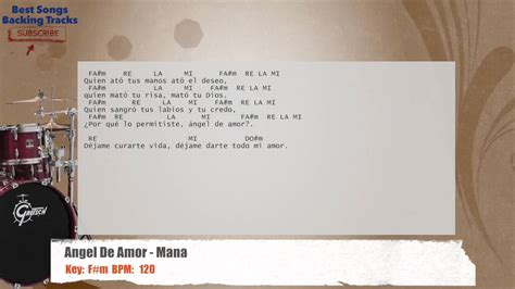 Mana Drums Backing Track With Chords And