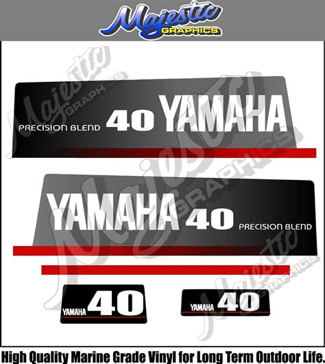 Yamaha Outboard Motor Decals For Sale by Yamaha 40hp Precision Blend Decals Outboard Decals