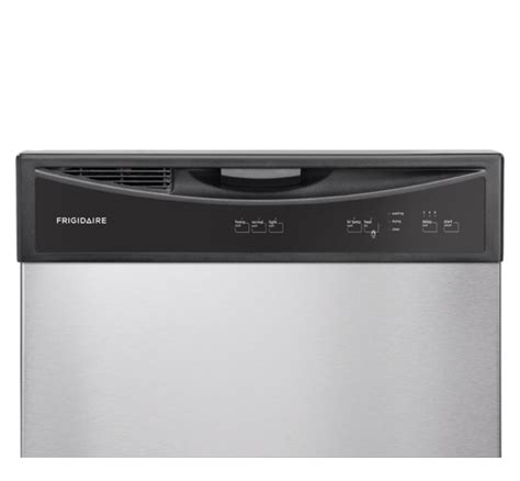 electrolux dishwasher air dry and delay lights frigidaire 24 39 39 built in dishwasher stainless steel