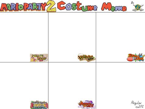 Mario Party 2 Costume Meme (TEMPLATE) by JuacoProductionsArts on DeviantArt
