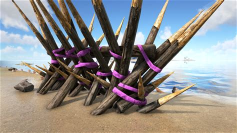 wooden spike wall official ark survival evolved wiki